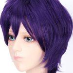 фиолетовый парик