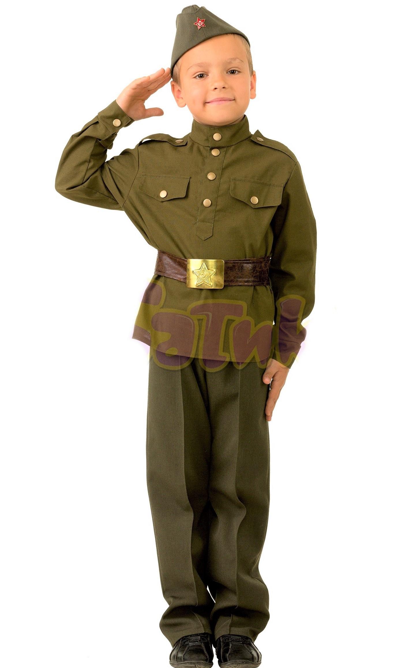костюм солдата детский