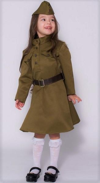 костюм для девочки в стиле «Солдаты Великой Отечественной войны»
